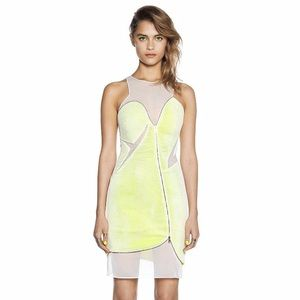 THREE FLOOR Static Electric Dress Lemon & White
